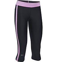 Under Armour Pant. Sport Capri Pantaloni corti fitness donna, Black/Pink