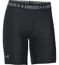 Under Armour Short UA HeatGear Armour Long Pantaloni corti fitness donna, Black
