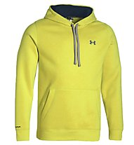 Under Armour Storm Cotton Hoody, Sunbleached/Petrol Blue
