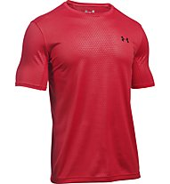 Under Armour UA Raid Microthread T-shirt fitness/palestra, Red