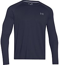 Under Armour Teh ls tee Maglia a maniche lunghe fitness, Dark Blue
