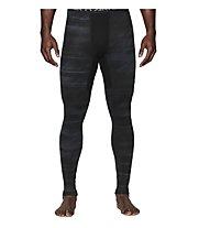 Under Armour UA Coldgear Armour Printed Compression Legging, Black/Steel