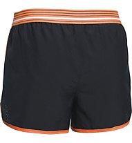 Under Armour Perfect Pace Short Damen, Black/Light Orange