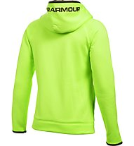 Under Armour UA Storm Armour Fleece Highlight Big Logo felpa con cappuccio fitness ragazzo, Green
