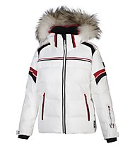 Vuarnet Giacca sci M-L Shelley Jacket Man, White Sail/Black/Red