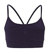 Wellicious Nicer Cropped Yoga-Tank Damen, Deep Night Blue