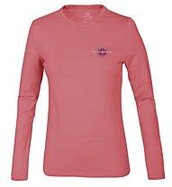 Wild Roses Lizette WR Logo R-Neck T-shirt Donna, Hot Coral