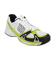 Wilson Rush Evo scarpe tennis, White/Lime
