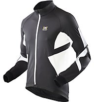 X-Bionic Biking Man Winter Spherewind Light Jacket, Black/White