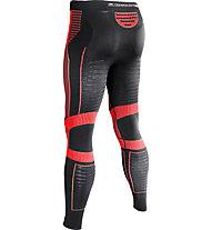 X-Bionic Effektor Running Power - pantaloni running, Black/Red