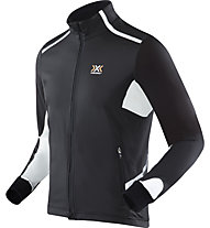 X-Bionic Spherewind Light OW Jacket giacca running, Black/White
