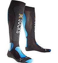 X-Socks Calzini sci Ski Comfort, Anthracite/Azurre