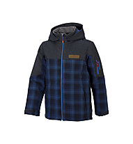 Ziener Giacca sci Aikimo, Blue Navy/Check